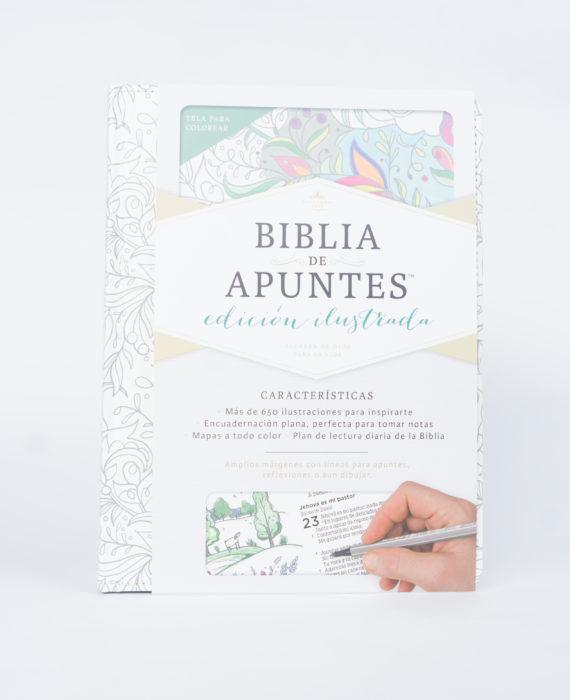 BIBLIA DE APUNTES EDICIÓN ILUSTRADA TELA EN BLANCO PARA COLOREAR