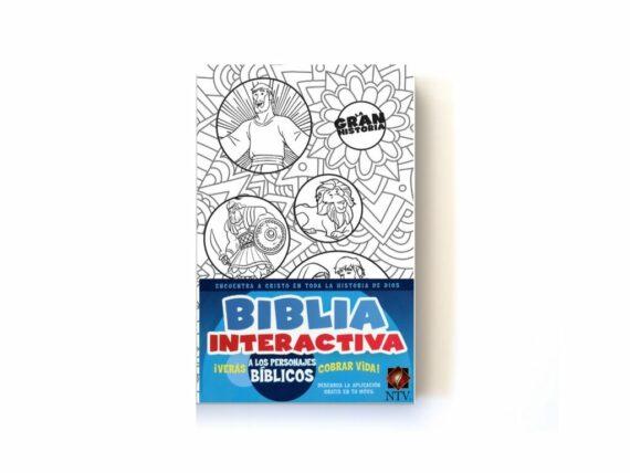 NTV - BIBLIA INTERACTIVA LA GRAN HISTORIA PARA COLOREAR - BLANCA