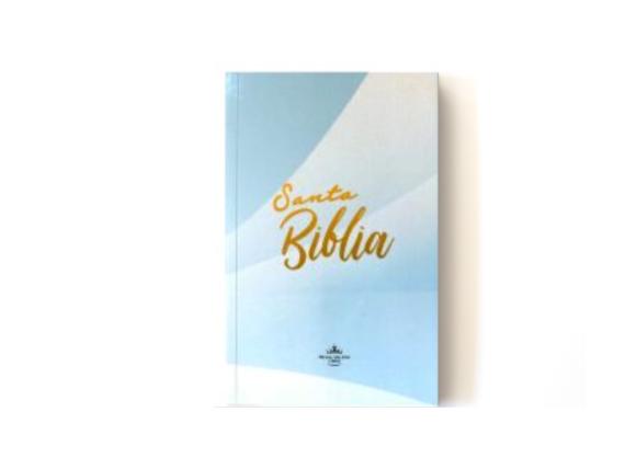RVR60 - BIBLIA MISIONERA - TAPA RUSTICA - AZUL CELESTE
