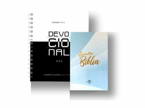 Agenda Devocional 365 Tapa Dura + Biblia Rvr60 Tapa Rustica